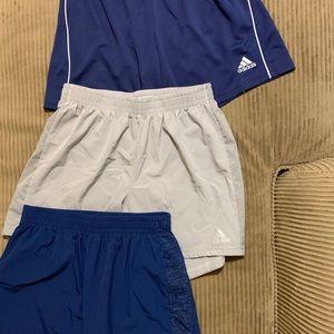 Adidas (3pair) mens running shorts